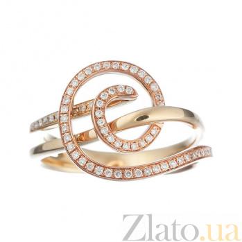 Кольцо из желтого и красного золота с бриллиантами Развитие 000026945