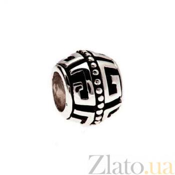 Бусина серебро с эмалью AQA--135520075/5