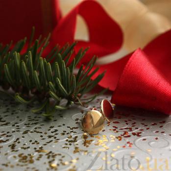 Серьги-пуссеты из красного золота Кнопка 000023443