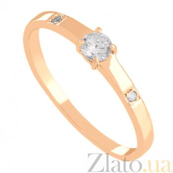 Кольцо из красного золота с фианитами Симфония VLN--212-080