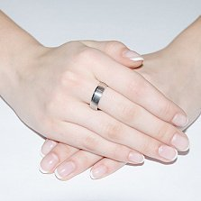 Обручальное кольцо из белого золота Признание