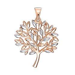 Золотая подвеска в комбинированном цвете 000138572