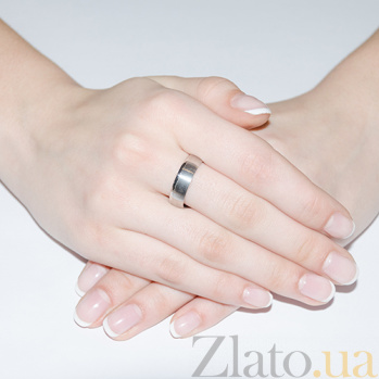 Обручальное кольцо из белого золота Признание 10133-1/02/1