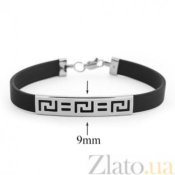 Каучуковый браслет Калиостро с серебряной вставкой 000027266