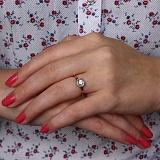 Золотое кольцо Розалинда с фианитами