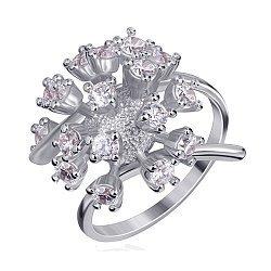 Серебряное кольцо с цирконием 000025545