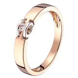 Кольцо в красном и белом золоте Алина с бриллиантом