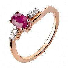 Кольцо из красного золота с рубином Александра