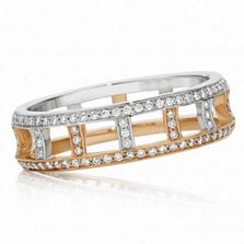 Кольца Argile-F в белом и розовом золоте