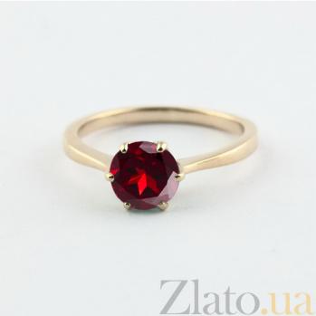 Золотое кольцо с гранатом Брайди 000024467