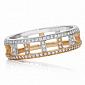 Кольца Argile-F в белом и розовом золоте R-ArF-W/R-132d