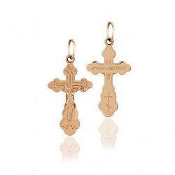 Православный крестик из красного золота 000001125