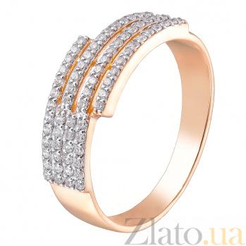 Кольцо в красном золоте Сабрина с белыми фианитами 000023461