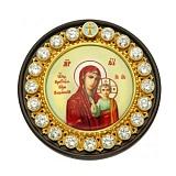 Серебряная автомобильная икона Казанская Божья Матерь