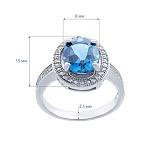 Серебряное кольцо с топазом Лондон