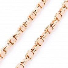 Золотая цепочка Роденто фантазийного плетения в стиле Барака