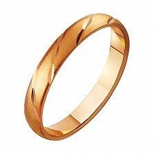 Золотое обручальное кольцо Крылья ангела