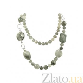 Колье из серебра с раухтопазами Онорра 3Л158-0086