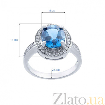 Серебряное кольцо с топазом Лондон   AQA--R00827TLB
