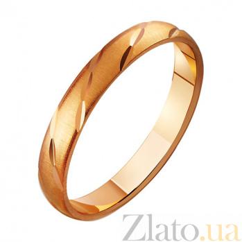 Золотое обручальное кольцо Крылья ангела TRF--411152