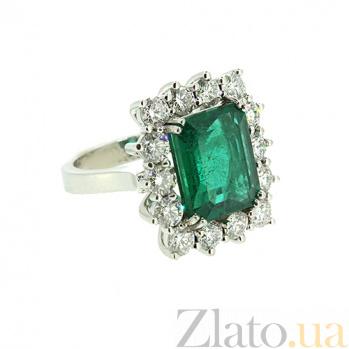 Золотое кольцо с бриллиантами и изумрудом Nature ZMX--RDE-00415w