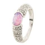 Серебряное кольцо Радия с опалом и фианитами