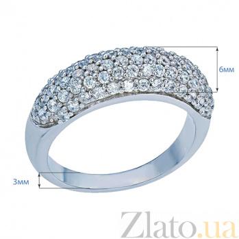 Кольцо серебряное Лунная дорожка AQA--R-0052-R