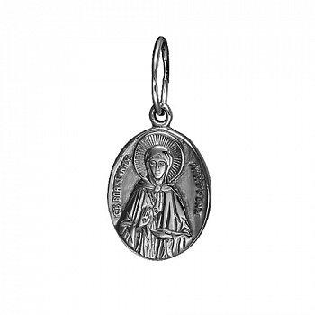Серебряная ладанка Блаженная Матрона с чернением 000054189