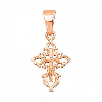 Крестик из красного золота 000103930