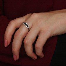 Серебряное кольцо с цирконием Степь
