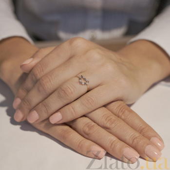 Золотое кольцо Романс с фианитами VLT--НН1172