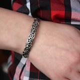 Серебряный чернёный браслет Варяжский