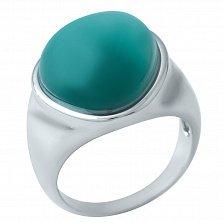 Серебряное кольцо Вероника с зеленым кошачьим глазом