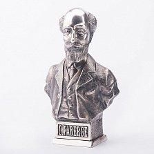 Серебряный бюст Карла Фаберже ручной работы