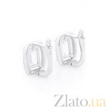 Серебряные серьги Малика с фианитами 000062972