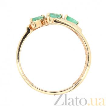 Золотое кольцо в красном цвете с изумрудами Божена ZMX--RE-6533_K