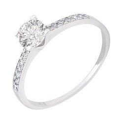 Кольцо из белого золота Безупречность с бриллиантами