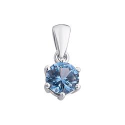 Серебряная подвеска Изящная простота с голубым кварцем