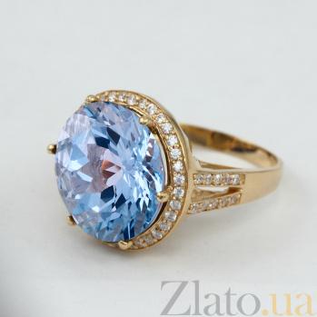 Золотое кольцо с топазом и фианитами Успех VLN--112-1387-1