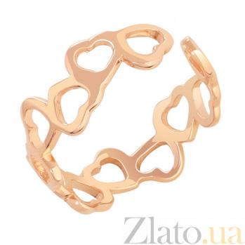 Кольцо из красного золота Любовь SVA--1001212101/Без вставки