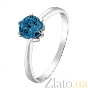 Серебряное кольцо Амритта с лондон топазом 000045504