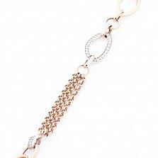 Золотой браслет Виолетта с кристаллами циркония