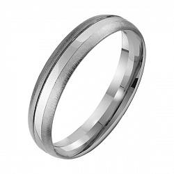 Золотое обручальное кольцо Источник любви в белом цвете