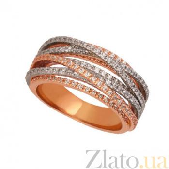 Кольцо с циркониями Элиза из красного золота VLT--ТТТ1245