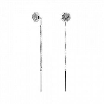 Серебряные серьги-протяжки 000150119