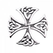Серебряный Мальтийский крест с чернением