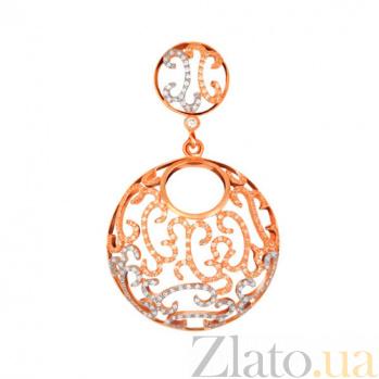 Кулон из красного золота с цирконием Аида VLT--ТТ3409-3