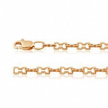 Золотая цепочка Филигранность в фантазийном плетении