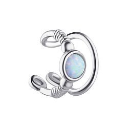 Серебряная серьга-каффа с опалом 000139603