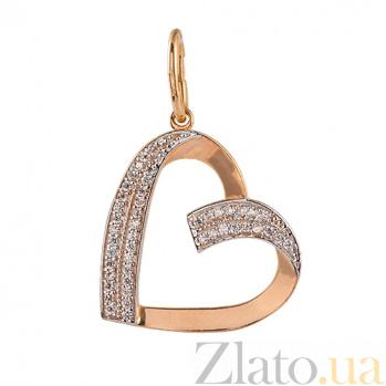 Золотая подвеска My heart SUF--422681
